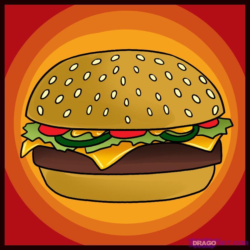 Drawn hamburger #2