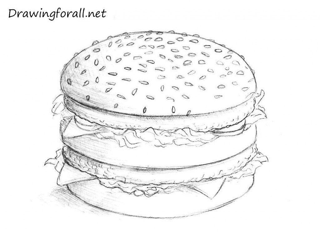 Drawn hamburger #5