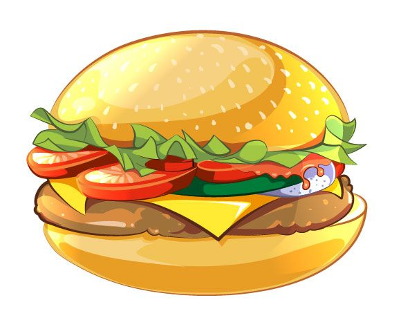 Burger clipart drawn Burger How Illustrator in to