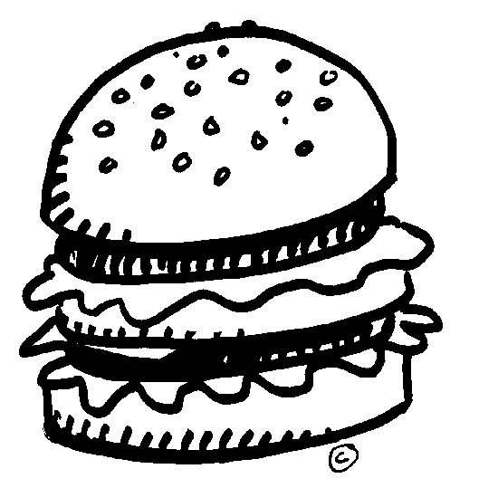 Burger clipart black and white Download Art  Clipart Clip
