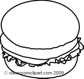 Black clipart hamburger Art Hamburger Pictures Clipart Clipart