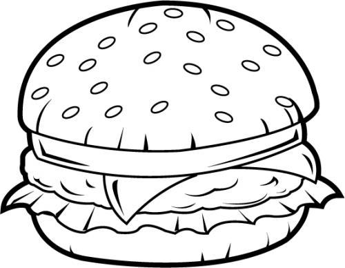 Black clipart hamburger Com white and black clipart