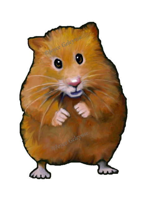Drawn hamster Commercial Freehand Art: Drawing Art: