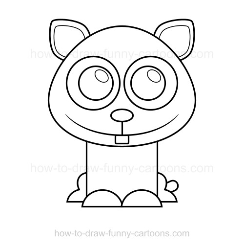 Drawn hamster cartoon Draw to to a hamster
