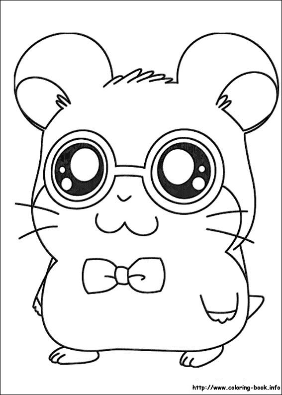 Drawn hamster coloring page Coloring Coloring Hamtaro Oxnard Pages