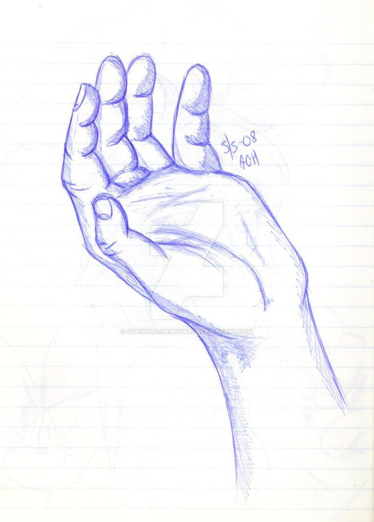 Drawn hand Usagisailormoon20 usagisailormoon20 DeviantArt by Drawn