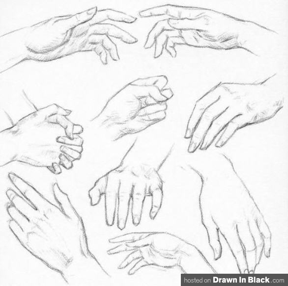 Drawn hand Tutorials Hands To's and