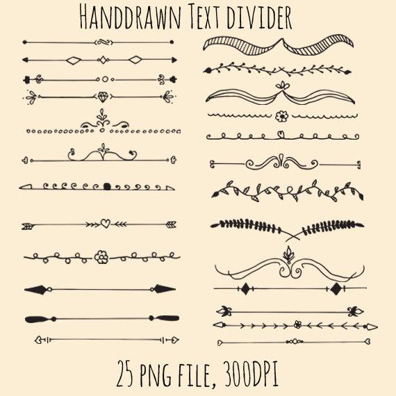Drawn bullet clipart CiriArt Hand Dividers Drawn Text