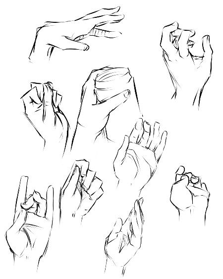 Drawn hand gesture On gestures 85 techniques drawing