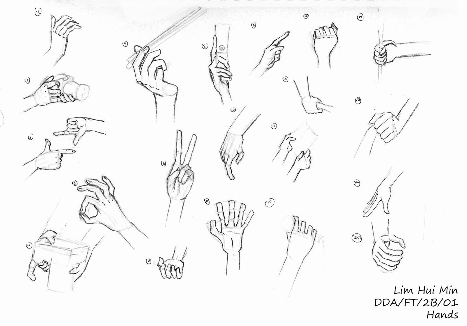 Drawn hand gesture Hand Drawing: Gesture Figure Portfolio: