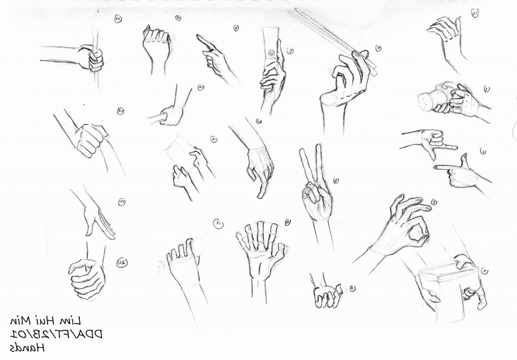 Drawn hand gesture Hand Art Hand Hand Drawing
