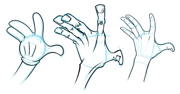 Drawn hand gesture 3 a for of my