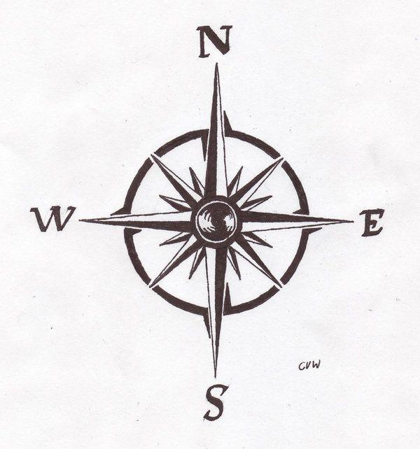 Drawn compass simple Tattoo Best tattoo Pinterest template