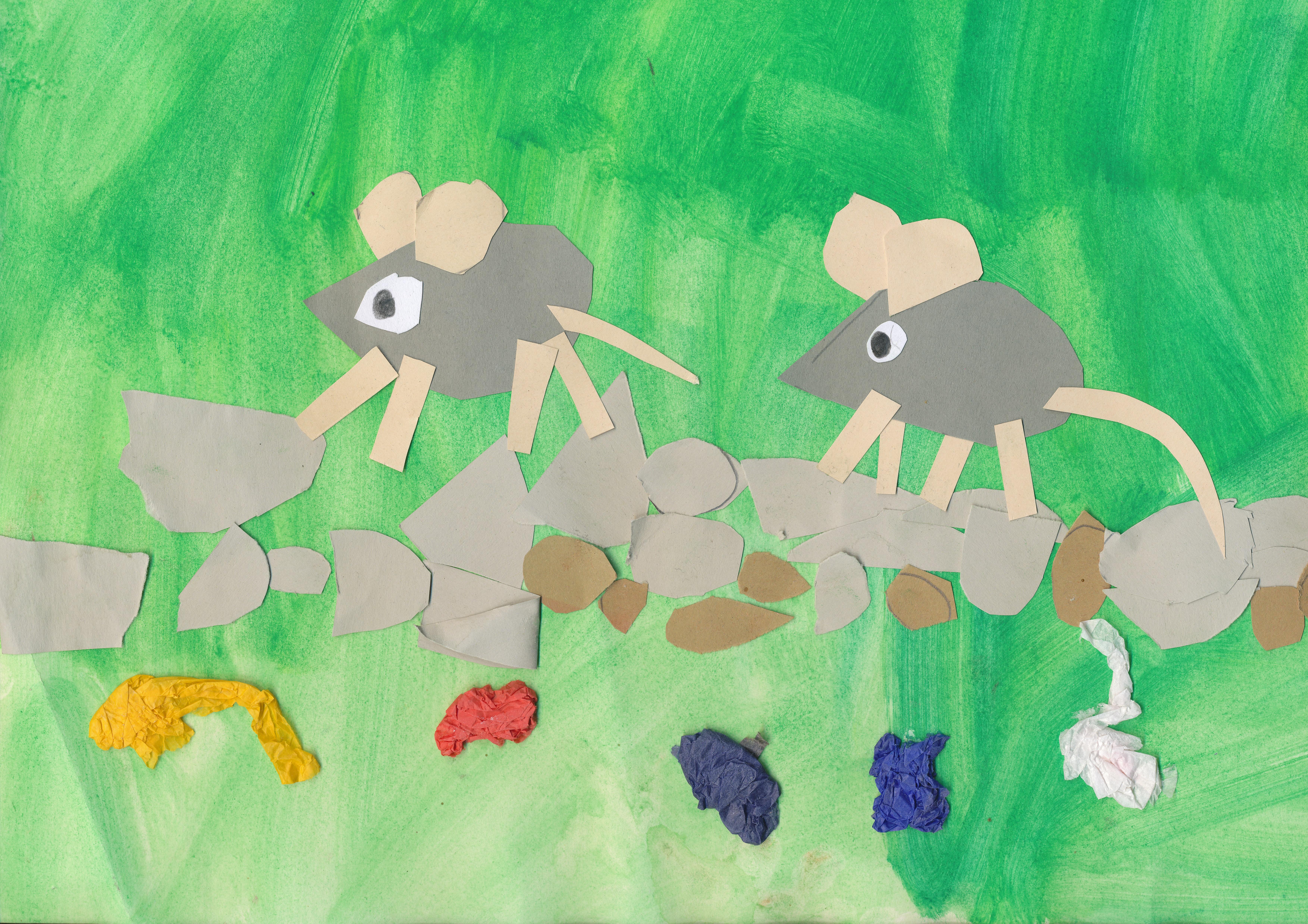Drawn rodent kindergarten Art : flower children rodents