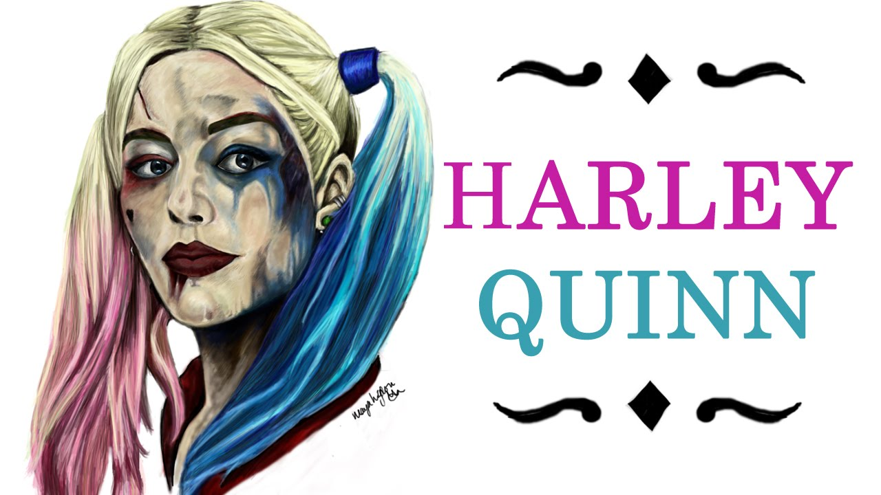 Drawn harley quinn YouTube Squad) digital lapse drawing