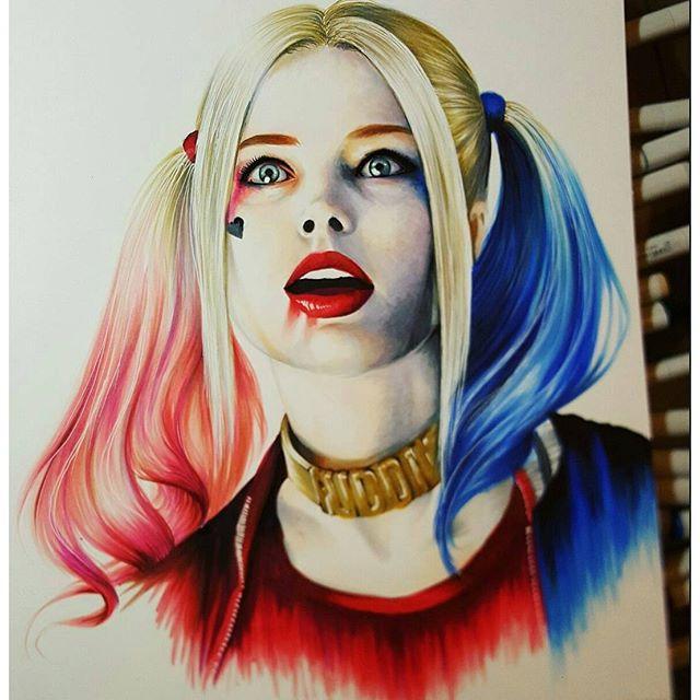 Drawn harley quinn Harley Art Quinn Image Drawing