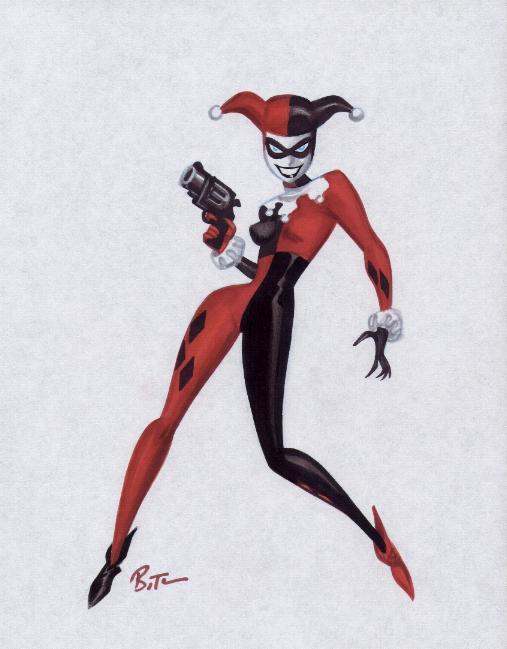 Drawn harley quinn batman character Of as usually primary