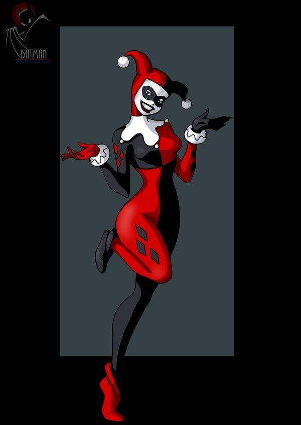 Drawn harley quinn batman character Almost the female Marvel Batman