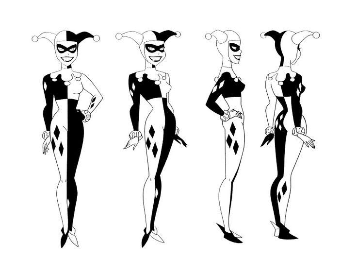 Drawn harley quinn batman character Timm Art and (736×568) Expressions