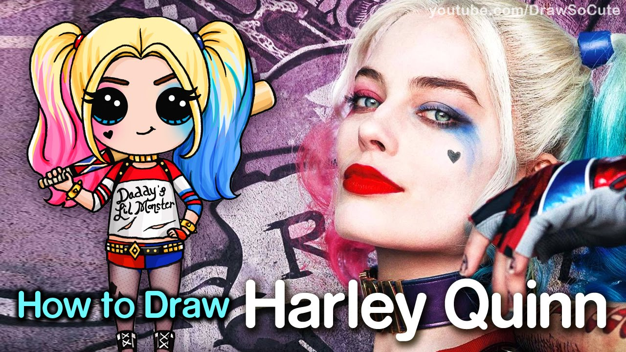 Drawn harley quinn cartoon To step by Suicide Draw