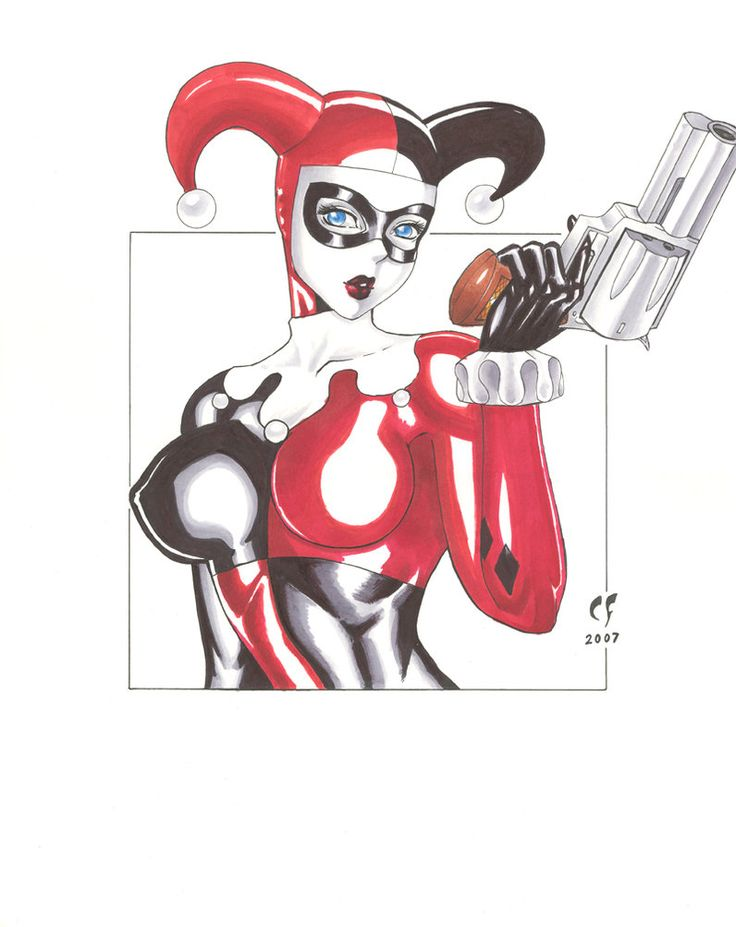 Drawn harley quinn gun About GUN