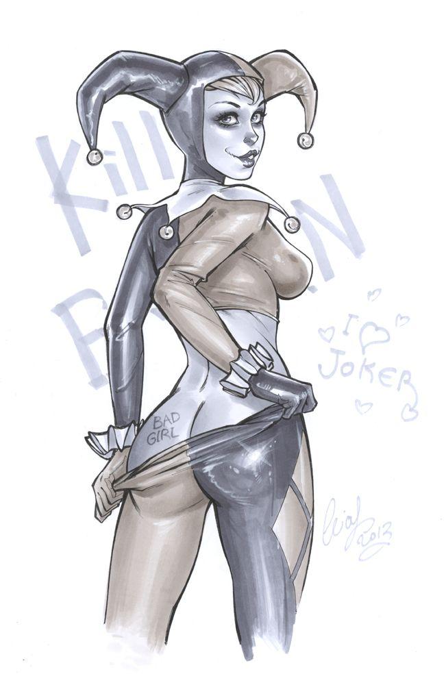 Drawn harley quinn king queen jester Deviantart best com on Joker
