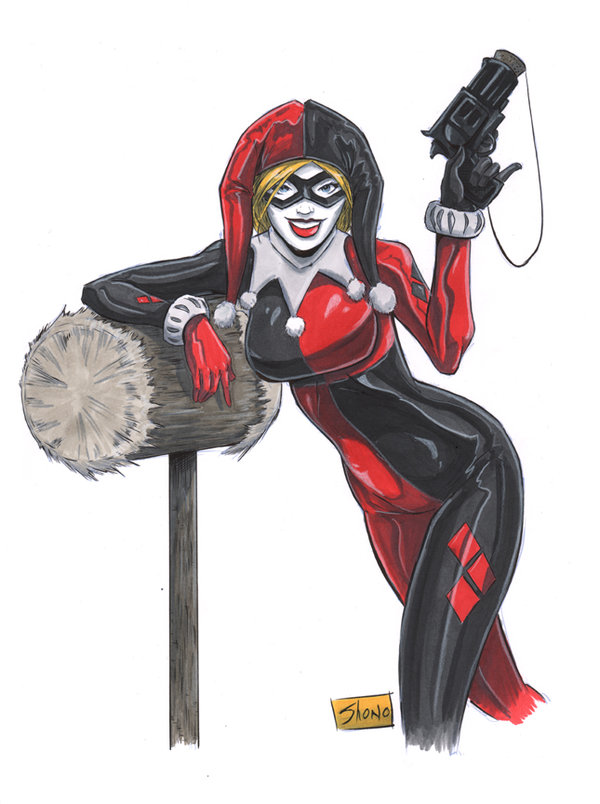 Drawn harley quinn original Quinn Harley on Art by