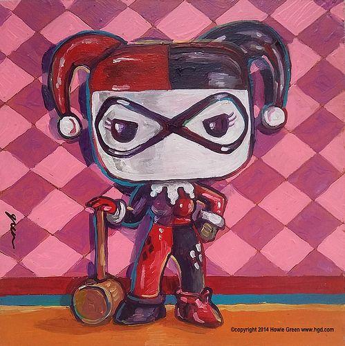 Drawn harley quinn pop art Pop Quinn Harley 11 Pinterest