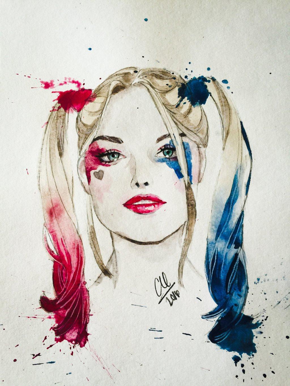 Drawn harley quinn pop art Quinn Squad DeviantArt Suicide Suicide