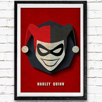 Drawn harley quinn retro Quinn DC Comics Art Wanelo