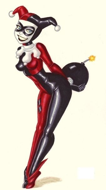Drawn harley quinn retro Best Joker easy images 491