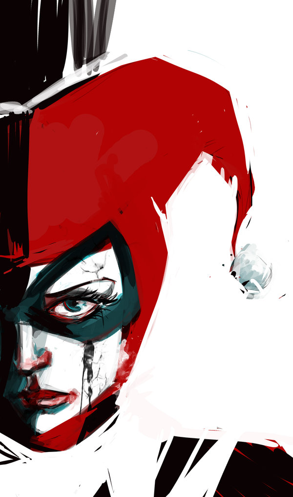 Drawn harley quinn sad Fan harley_quinn__the_tragic_by_thetimeiszero Quinn Harley Art