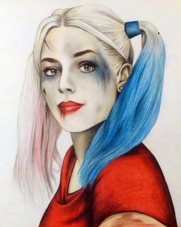 Drawn harley quinn sad Drawing Harley Images Robbie Margot
