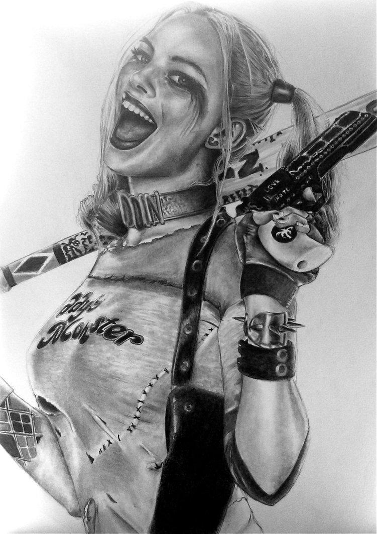 Drawn harley quinn sketch Drawing Quinn Yeah Harley by
