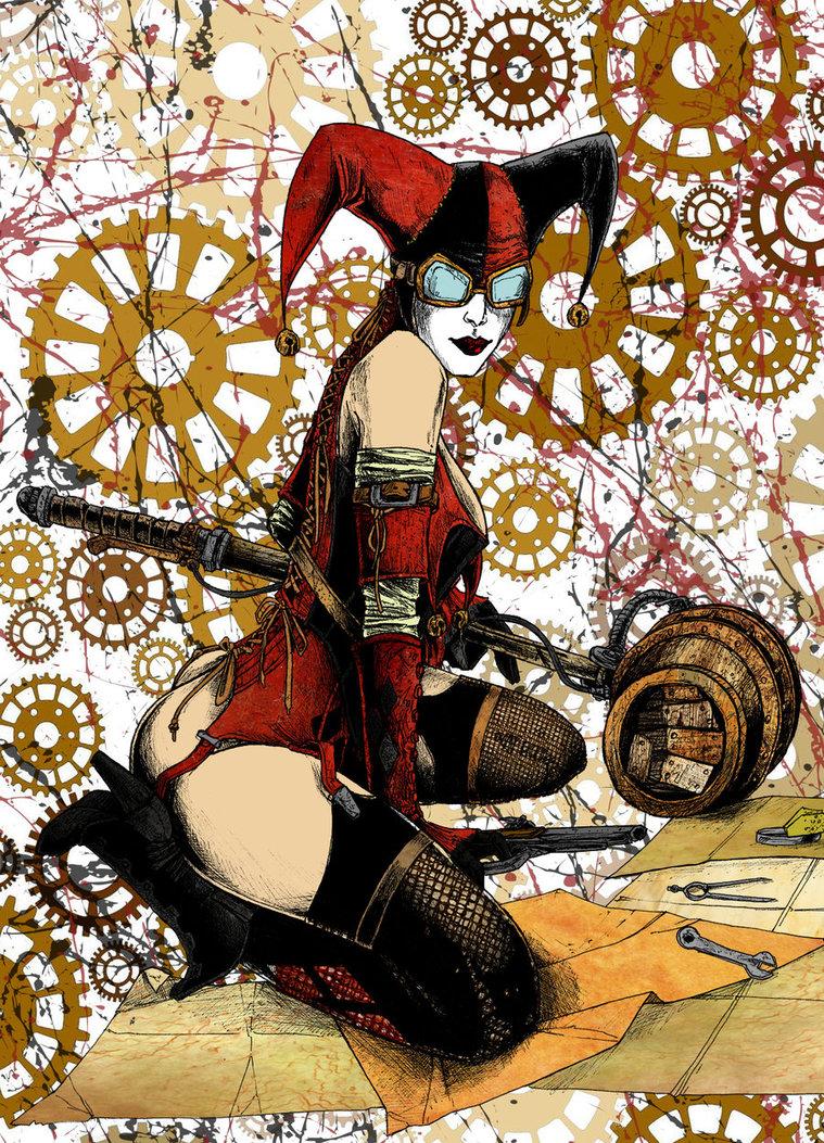 Drawn harley quinn steampunk Jmascia DeviantArt Quinn Harley by
