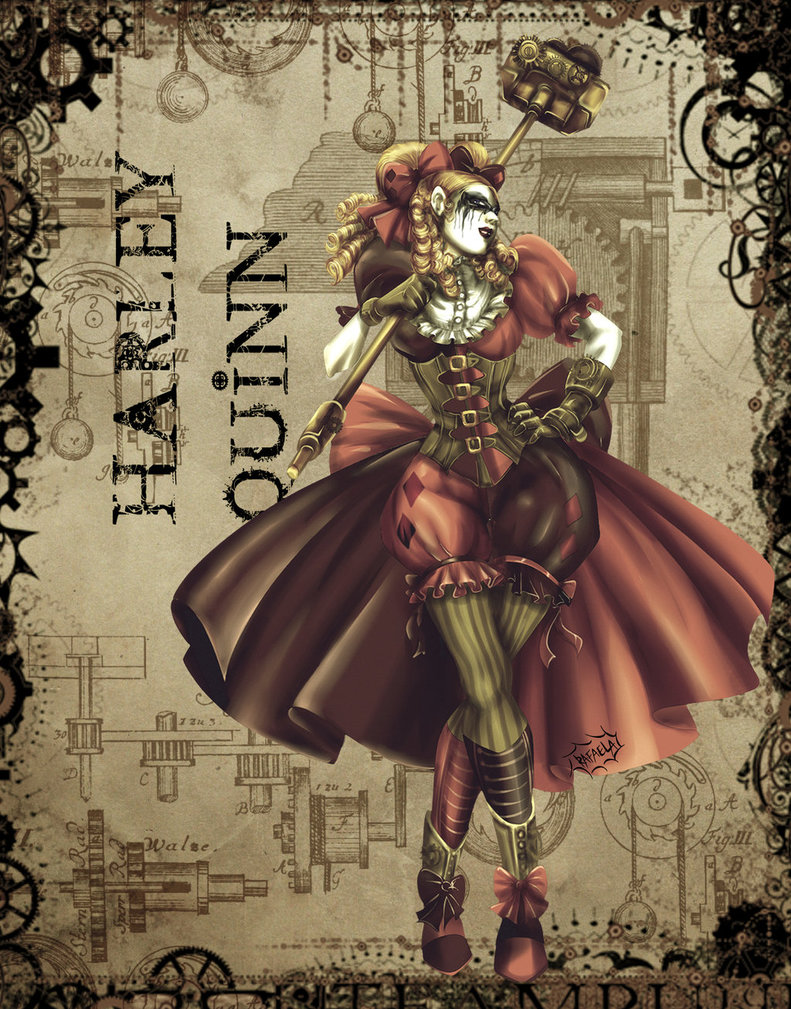 Drawn harley quinn steampunk Pinterest more Axcido by Pin