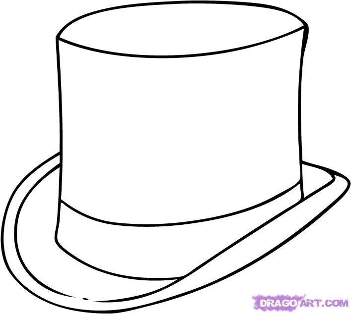Drawn top hat Hat FREE Step Online step