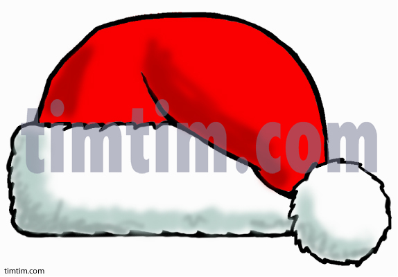 Drawn santa hat new year Christmas from ThanksGiving category the