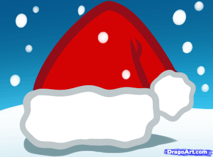 Drawn santa hat new year A How kids  to