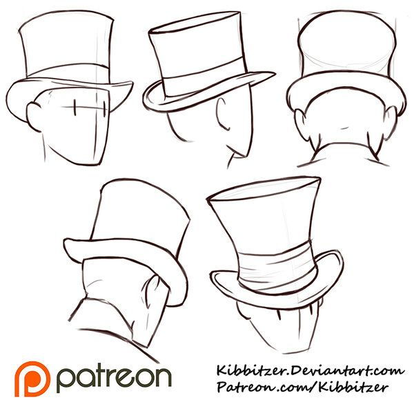 Drawn top hat About Drawing Kibbitzer Pinterest on