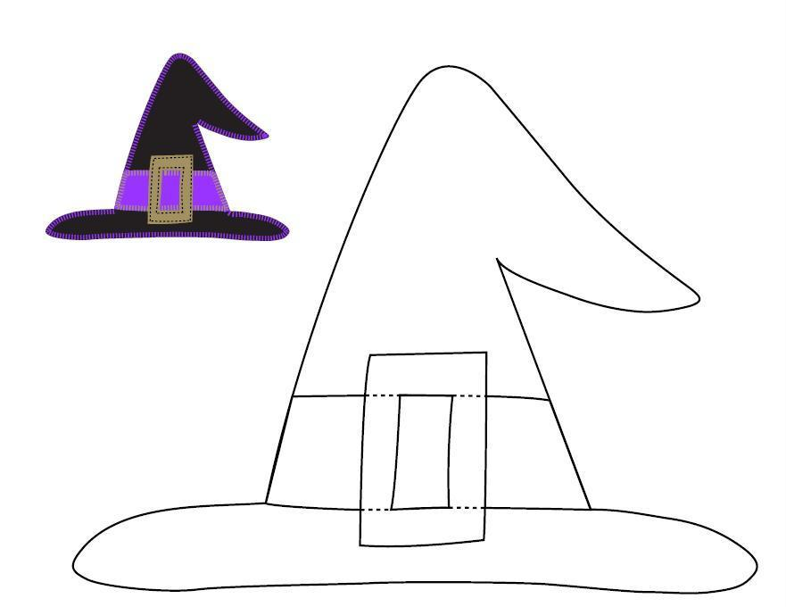 Drawn hat halloween witch Templates templates Hat Applique Ucreate: