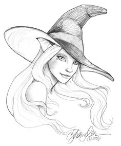 Drawn hat halloween witch Zentangled i  be thought