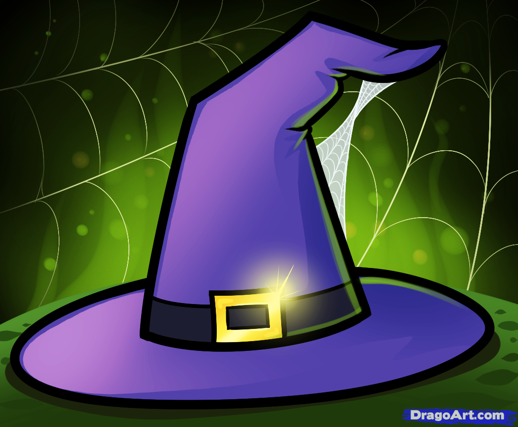 Drawn hat halloween witch Step draw hat a to