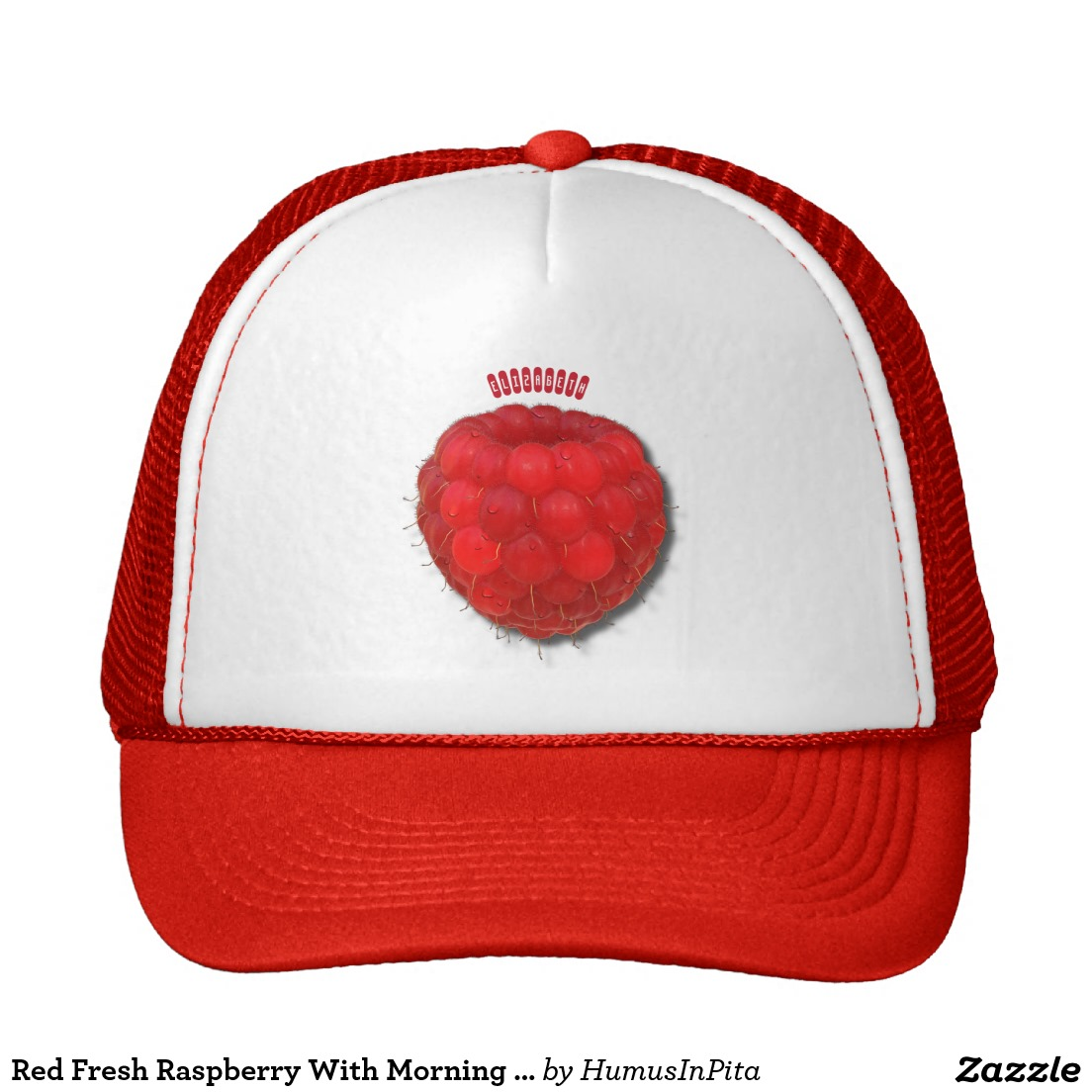 Drawn hat trucker Hat Red Raspberry Drops With