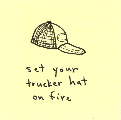 Drawn hat trucker Johns felt…  note 3x3