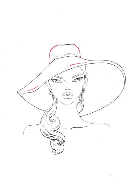 Drawn hat womens hat Fashion 8 How draw How