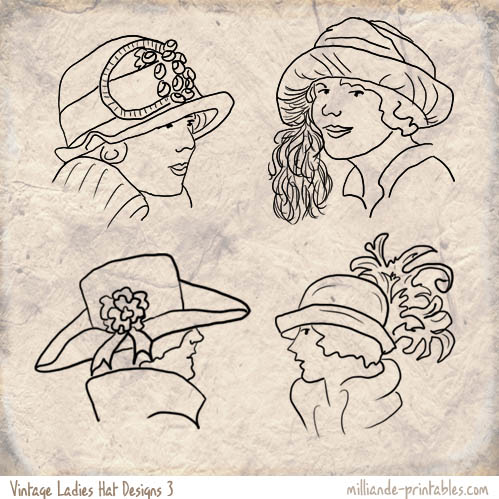 Drawn hat womens hat Vintage Hat Vintage Hat Styles
