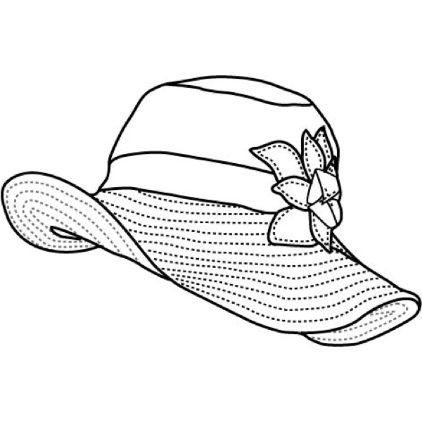 Drawn hat womens hat Sunhat Collections Flipside Hats Women's