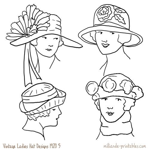 Drawn hat womens hat Womens www Vintage Hat milliande