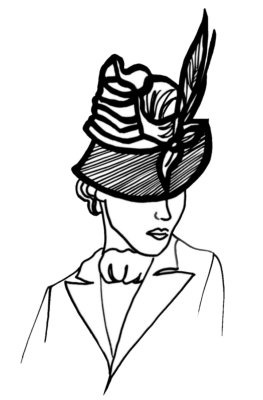Drawn hat womens hat Fashion a Picture a 1936
